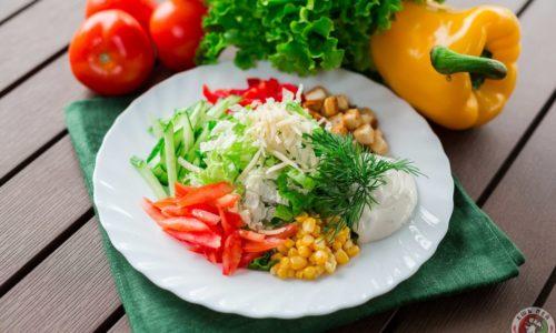 Салат грудка пекинская капуста перец болгарский